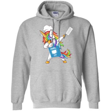Dabbing Unicorn Greatest Chef T Shirt Pullover Hoodie 8 oz.