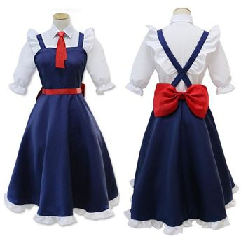 Miss Kobayashi's Dragon Maid Tohru Cosplay Costume Kobayashi san Chi no Maid Dragon Uniform Full Set Meidofuku Performance Dress