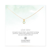 Love Gems Green Chalcedony Necklace, Gold Dipped | Dogeared