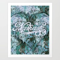 Namaste in Blue Art Print by Kristy Patterson Design