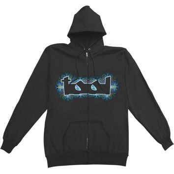 Tool Men's  Nerve Ending Zip Hoodie Zippered Hooded Sweatshirt Black