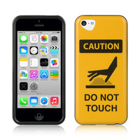 IMD HQ Graphic TPU Protector Case for Apple iPhone 5C - Caution
