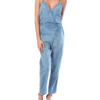 Easy Does It Chambray Jumpsuit - Denim