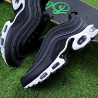 DCCKGV7 Best Online Sale Nike Air Max Plus 97 TN Black/Anthracite White Sneakers Trainers AH8143-001