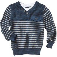 George UK Baby Toddler Boy's Military Stripe Sweater - Walmart.com