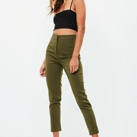 Missguided - Khaki Tailored Cigarette Pants