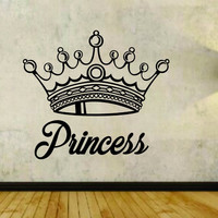 Princess with Crown Version 102 Vinyl Wall Decal Sticker