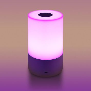 LED Bedside Night Light Atmosphere Lamp Touch Sensor Rechargeable Table Lamp