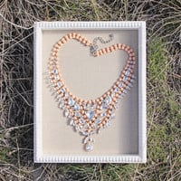 Hive & Honey Necklace in Peach