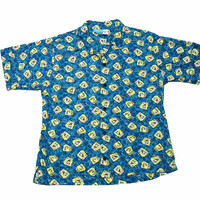 Spongebob Squarepants All Over Print Button Up Shirt Mens Size Medium
