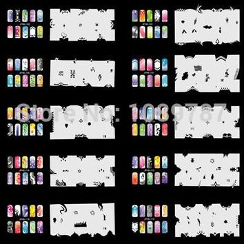ABEST Reuseable Airbrush Nail Art Stencil 280 DESIGNS - 20 Template Sheets Kit Set 6