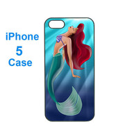 iphone 5 case--Ariel,personalize iphone 5 plastic hard case in black or white