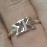 Sterling Silver Sigma Kappa Letter Ring