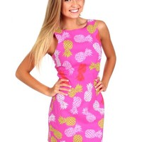Having A Party Pink Pineapple Dress | Monday Dress Boutique