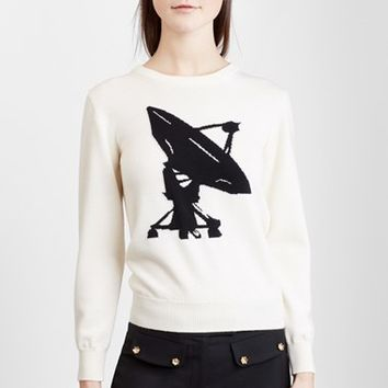 Women's J.W.ANDERSON Satellite Graphic Midweight Merino Wool Sweater