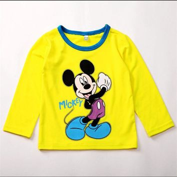 T shirt 2016 Baby Girls Cartoon Clothes Boys Kids Long Sleeve Blouses Tops Shirt Hoodie