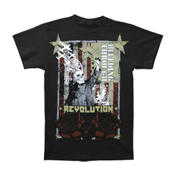 Bleeding Through Men's  Revolution Slim Fit T-shirt Black Rockabilia