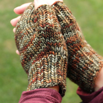 Knit Wool Hand Warmers for Fall, Texting Gloves, Fall Wrist Warmers, Fall Gloves, Wool Mittens, Hand Knit Gloves, Hand Warmers
