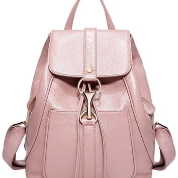 BOYATU Real Leather Backpacks Purse for Women Ladies Fashion Travel Shoulder Bag