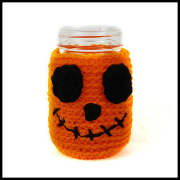 Pumpkin Mason Jar Cozy