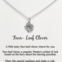 Tahlia Four-Leaf Clover Necklace