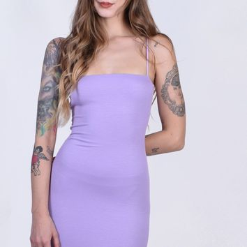 Fabiana Ribbed Straight Cut Tube Dress