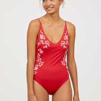 Swimsuit with Embroidery - from H&M