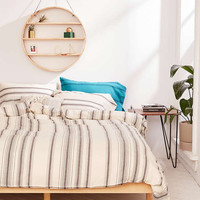 Rey Yarn-Dyed Stripe Duvet Cover - Urban Outfitters