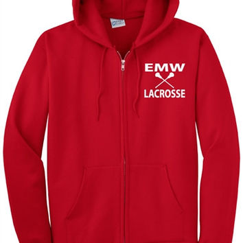 EMW Mens Lacrosse Port & Company® - Boys/Girls Full-Zip Hooded Sweatshirt
