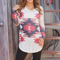 Swirling In The Autumn Breeze Tunic