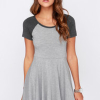 Others Follow Blossom Heather Grey Dress