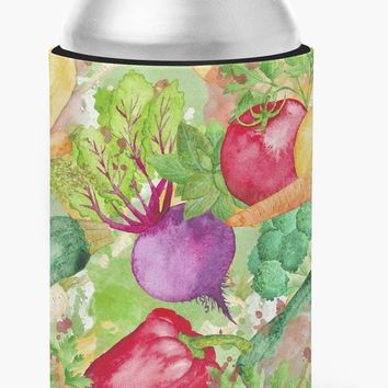 Watercolor Vegetables Farm to Table Can or Bottle Hugger BB7572CC