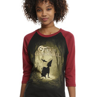 Over The Garden Wall Silhouette Forest Girls Raglan