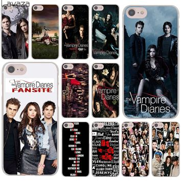 Lavaza The Vampire Diaries Elena Gilbert Hard Cover Case for Apple iPhone 8 7 6 6S Plus 5 5S SE 5C 4 4S X 10 Coque Shell