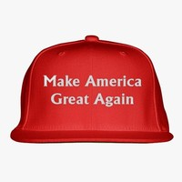 Make America Great Again Embroidered Snapback Hat