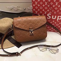 LV Women Shopping Leather Crossbody Satchel Shoulder Bag