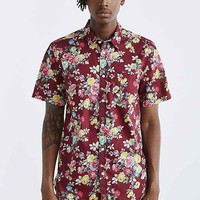 Your Neighbors Rose Floral Button-Down Shirt