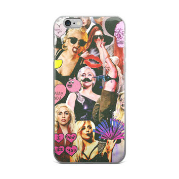 Lady Gaga Collage iPhone 4 4s 5 5s 5C 6 6s 6 Plus 6s Plus 7 & 7 Plus Case