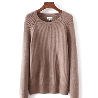 Pullover Knit Simple Design Casual Tops [8832438342]