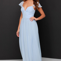 Evening of Bliss Light Blue Maxi Dress