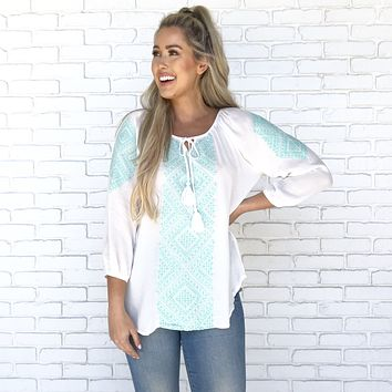 Rare Find Ivory Blouse