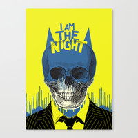 I Am The Night Canvas Print by Butcher Billy