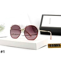 GUCCI street fashion men and women models TR round frame color film polarized sunglasses #1