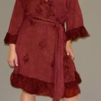 Sexy Gorgeous Maroon Wrap Dress - By Peach Couture.