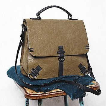 Free People Womens Felix Vegan Messenger