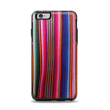 The Colorful Striped Fabric Apple iPhone 6 Plus Otterbox Symmetry Case Skin Set