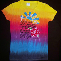 OOAK Grateful Dead Scarlet Begonias Lyrics LIMITED EDITION Art Shirt- Only 30 Available!- Made to Order with Free Shipping
