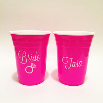 Bachelorette Party Cups, Bachelorette Cups, Bachelorette Gifts, Bride Cup, Bridesmaid Gifts, Maid of Honor Gift, Wedding Party Cups, Gifts