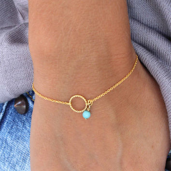 Summer Gold Chain bracelets & bangles Twist circle Bracelet friendship bracelets Wedding Gift   SH072