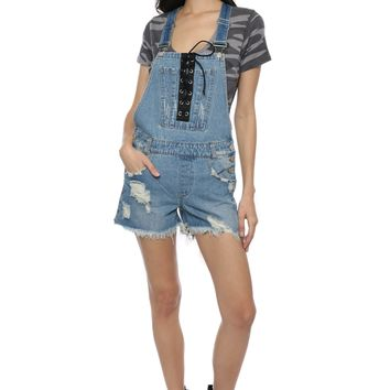 Brooklyn Karma Lace Up Overalls